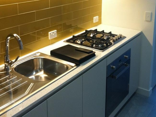 The kitchens are brand, spanking new.