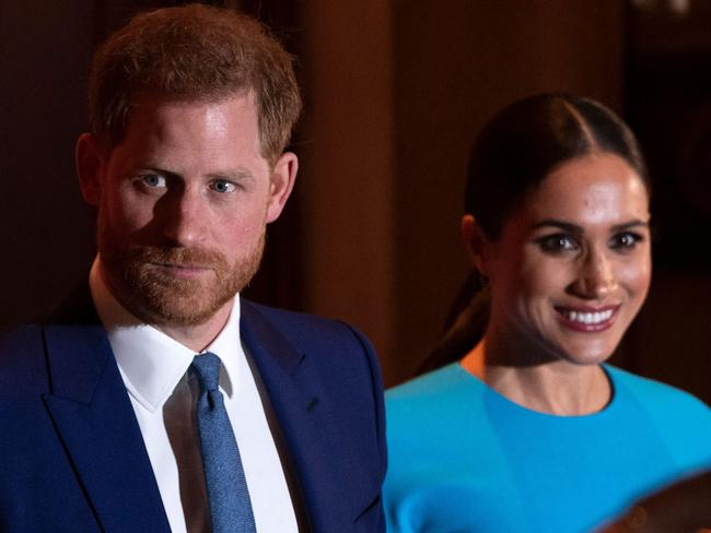 Prince Harry, Duke of Sussex and Meghan, Duchess of Sussex at the Endeavour Fund Awards at Mansion House in London earlier this month. Picture: Justin Tallis/AFP