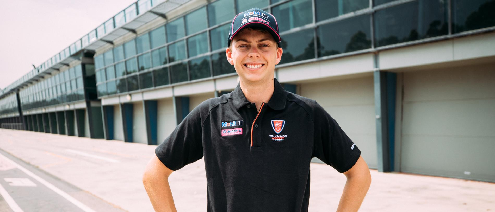 Locked in: Bryce Fullwood will drive a WAU Holden in 2020.