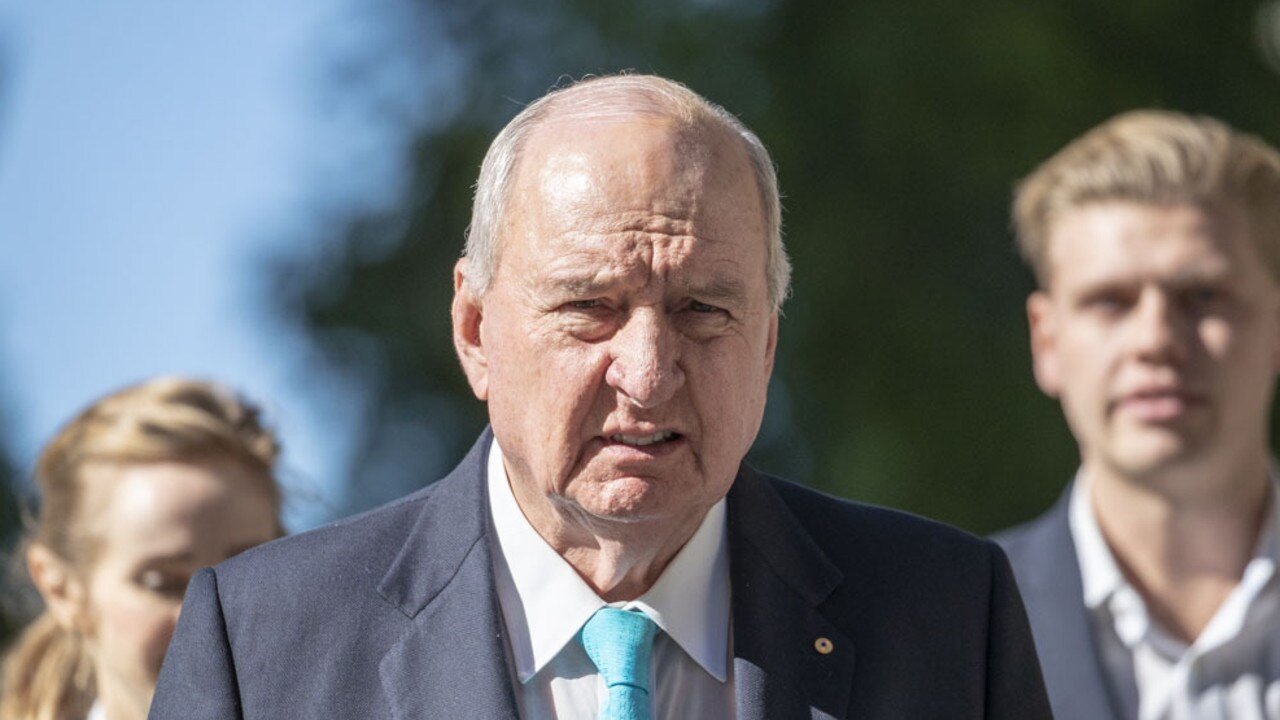 Radio broadcaster Alan Jones arrives at the Supreme Court in Brisbane.