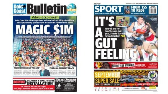 Exclusive first look at tomorrow's front and back pages of