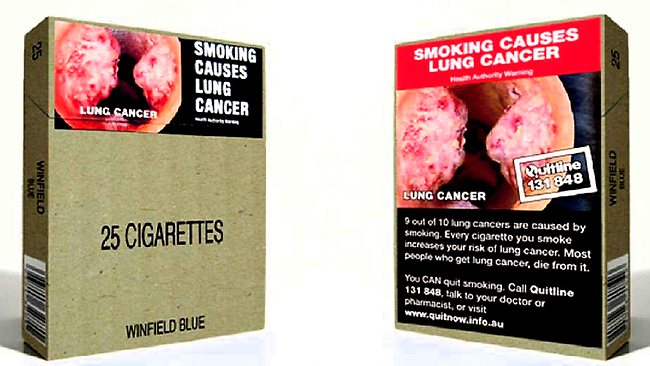 plain packaging of cigarettes seminar Plain tobacco packaging: a systematic review crawford moodiea,d facilitators to the introduction of plain packaging appeal of cigarettes, packs and brands.