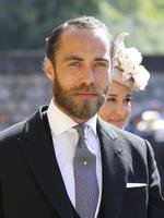 James Middleton arrives at the wedding ceremony of Prince Harry and Meghan Markle at St. George's Chapel in Windsor Castle in Windsor, near London, England, Saturday, May 19, 2018. Credit: Gareth Fuller/pool photo via AP