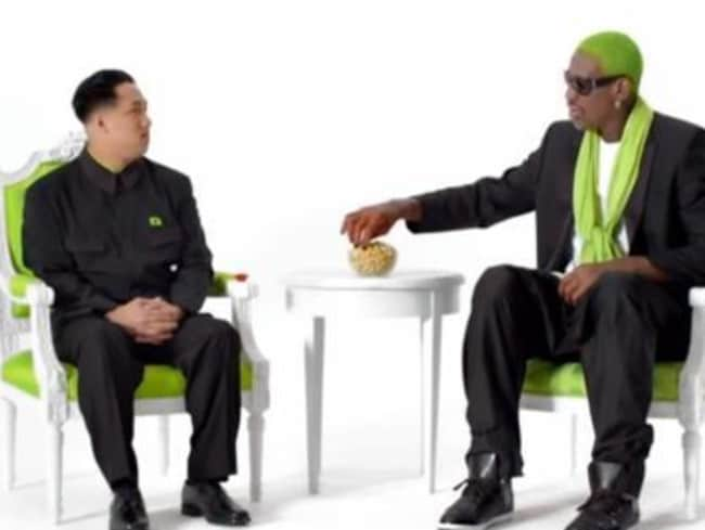Rodman spoke about his missile-mad mate while appearing on the Late Show with Stephen Colbert. Picture: Supplied.