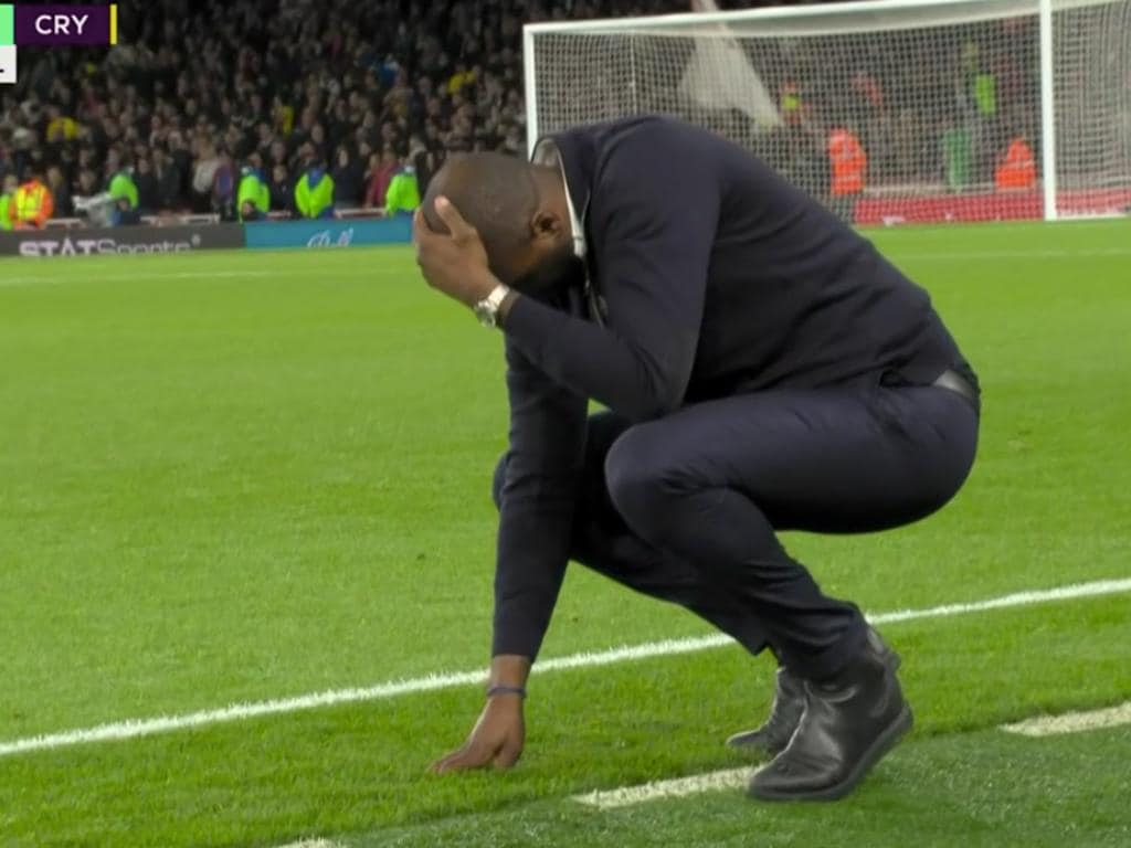 Patrick Vieira was devastated at the final whistle.