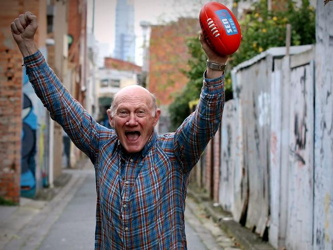 Kevin Bartlett channelling the 1980 Grand Final. Picture: Wayne Ludbey