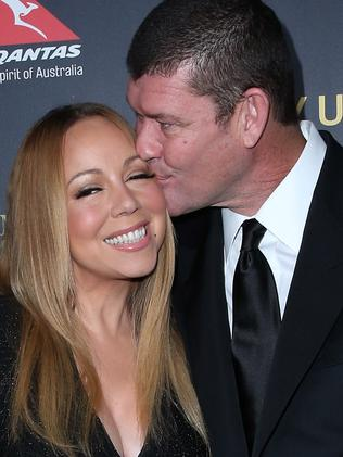 Mariah Carey and James Packer attend the 2016 G'Day Los Angeles Gala. Picture: Getty