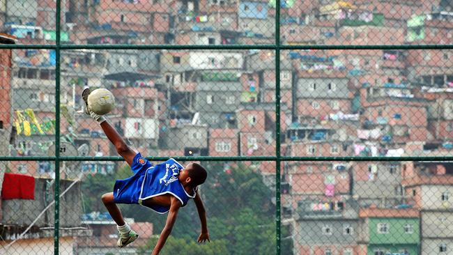 South America's largest Favela, Rocinha is a buzz with football fans.