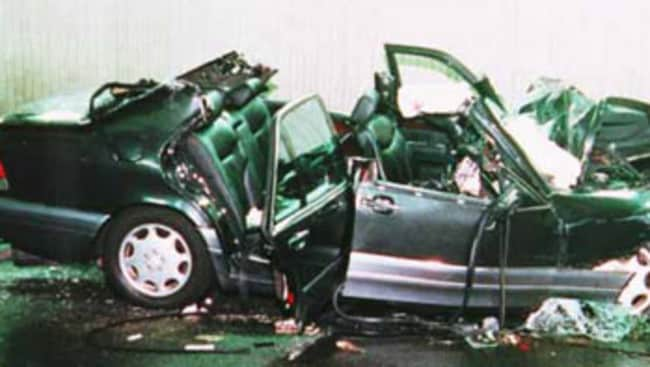 The car involved in Diana's fatal accident