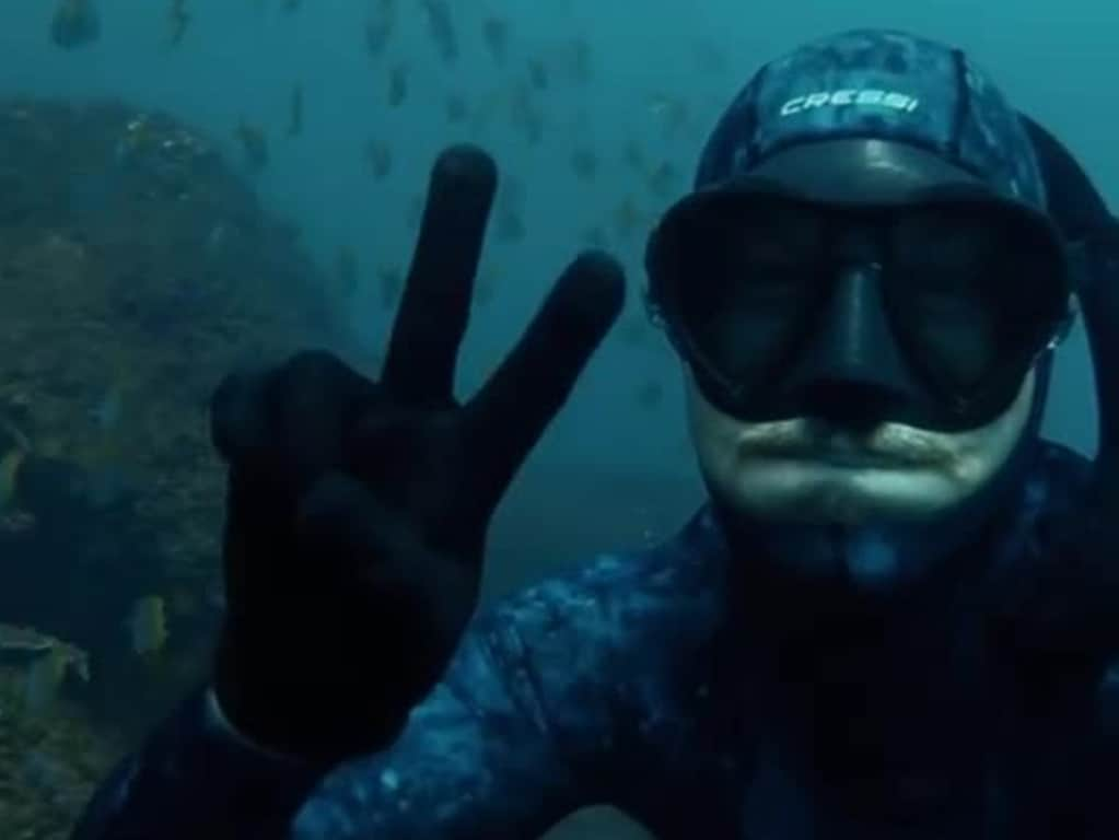 Alex 'Chumpy' Pullin, free diving on or around 24/6/2020 , https://www.instagram.com/alexchumpypullin/