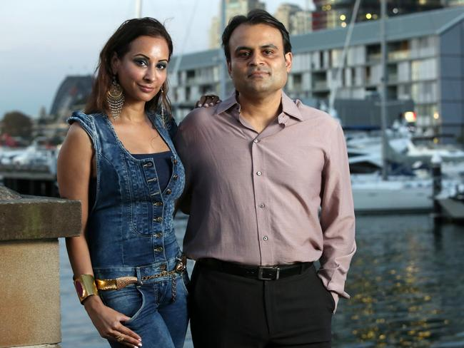 Pankaj and Radhika Oswal are in Sydney to fight several major court battles — five years after they left abruptly amid financial trouble. Picture: James Croucher