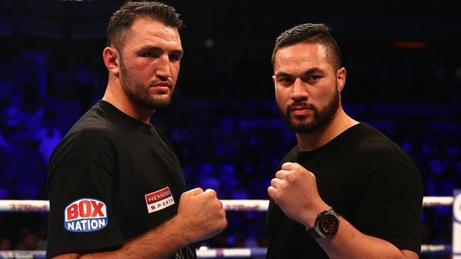 Hughie Fury and Joseph Parker face off.