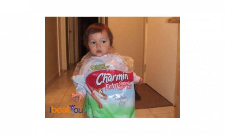 "Toilet paper  <p>This costume stinks.<a href=""http://www.neatorama.com/halloween/2012/09/21/Kids-In-Hilarious-Costumes/"">Image via neatorama</a></p>"