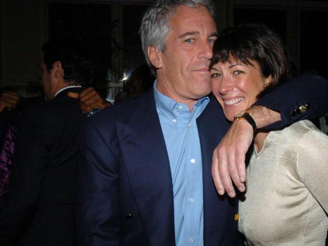 Ghislaine Maxwell with Jeffrey Epstein. Picture: Supplied