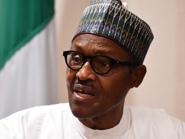 Nigerian President Muhammadu Buhari urged the public not to 'let the terrorists divide us by turning Christians against Muslims' because they 'don't represent Islam'. Picture: AFP