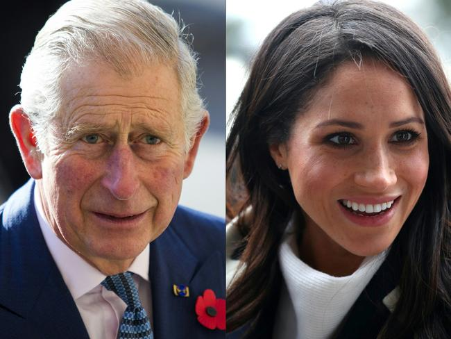 Overnight it was revealed that Prince Charles would walk Meghan Markle down the aisle. Picture: AFP