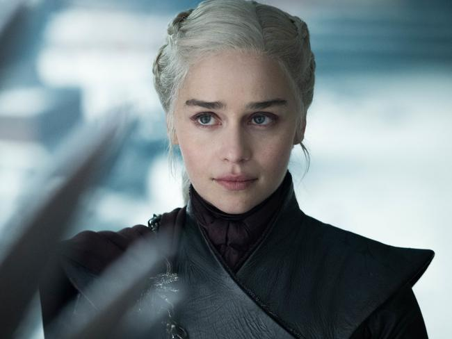 Emilia Clarke in a scene from Season 8 of Game of Thrones. Picture: HBO/ Supplied