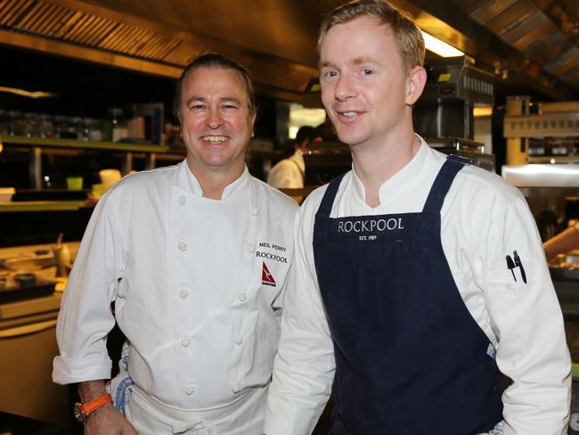 Neil Perry with executive chef Phil Wood.  One in every of Australia's biggest eating places shuts a95e5efe1fee9df64d33490533389b3d