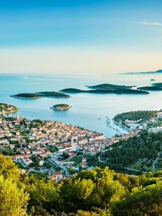Hvar town on Hvar island, Croatia.
