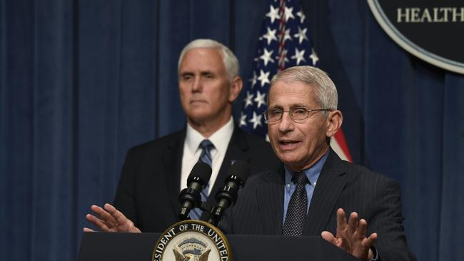 "Anthony Fauci has warned the United States is facing a ""serious problem"". Picture: AP/Susan Walsh"