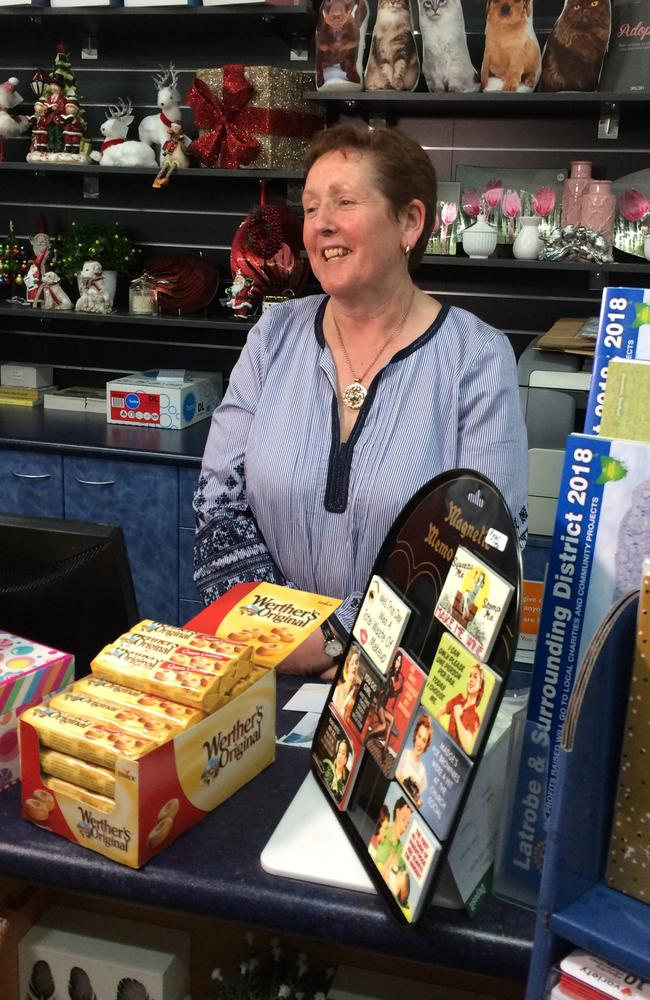 """The """"worrying new trend"""" threatens her business, says Latrobe newsagency manager Michelle Callander. Picture: Helen Kempton"""