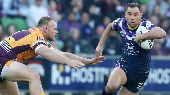 Cameron Smith was superb in Storm's win over the Broncos. Picture: Michael Klein