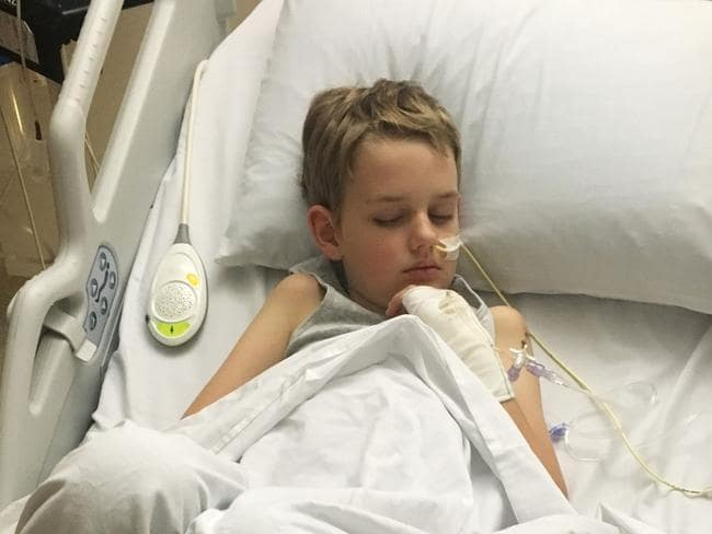 Beau was gravely ill in hospital and no one knew why. Photo: Supplied