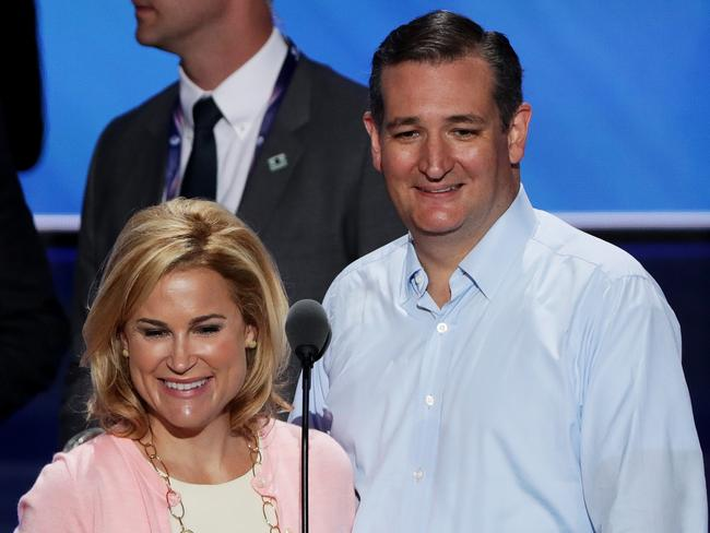 Senator Ted Cruz with his wife Heidi Cruz. Picture: Alex Wong/Getty Images/AFP