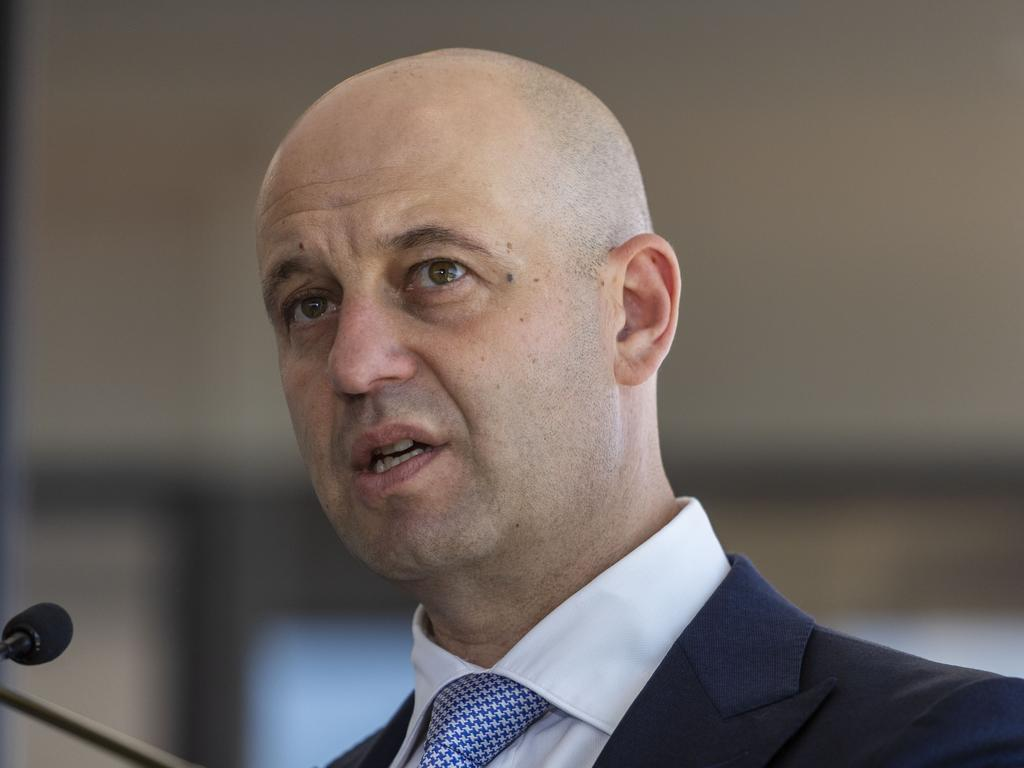 NRL CEO Todd Greenberg speaks at the 2019 Magic Round Launch in Brisbane, Wednesday, November 20, 2018. (AAP Image/Glenn Hunt) NO ARCHIVING