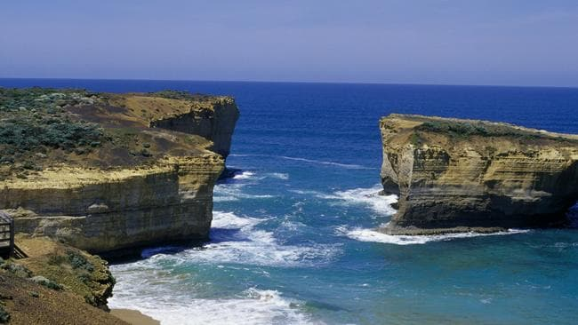 Renamed the London Arch, this is what remains of the London Bridge rock formation today. Picture: Tourism Victoria