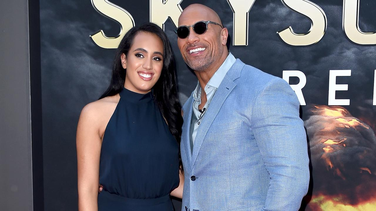 Simone and her dad at the premiere of Skyscraper (you know, the one where The Rock jumps off a big building?). (Photo by Michael Loccisano/Getty Images)
