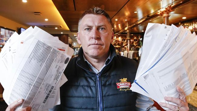 Ballarat's Red Lion Hotel publican David Canny is sinking in debt with bills piling up and little money coming in. Picture: David Caird