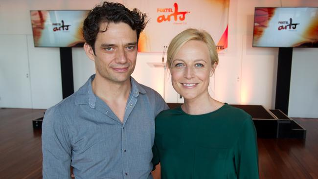Loved up ... Ben Winspear and Marta Dusseldorp say working together on A Place To Call Home is a career highlight.