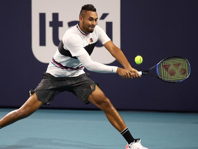 Nick Kyrgios is in fine form in Miami.