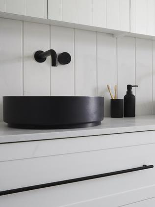 Shaynna said they used too much money on the double vanity and other trimmings. Picture: The Block/ Channel 9