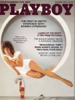 Barbara Streisand on the cover of Playboy magazine, October 1977. Picture: Playboy