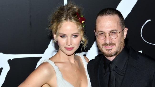 Jennifer Lawrence and Darren Aronofsky. Photo: Splash