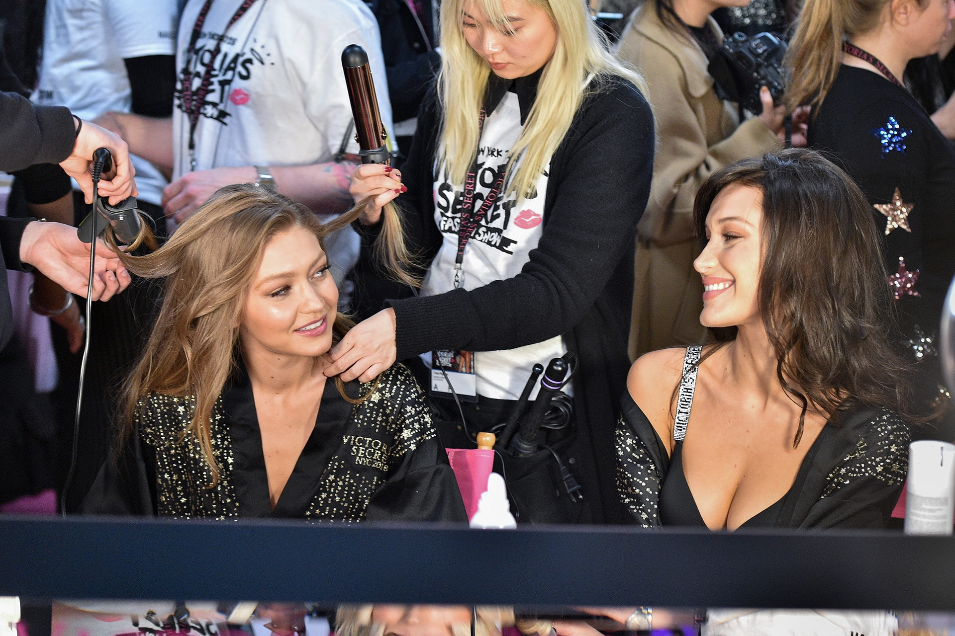 Gigi Hadid cries when she sees sister Bella Hadid walk the Victoria's Secret runway