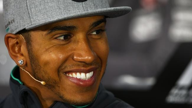 Hamilton was in a good mood in the pre-weekend drivers press conference.