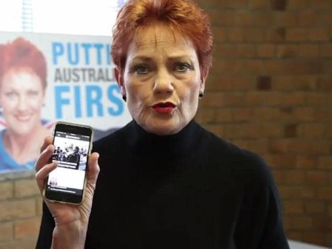 'You guys will all be out of a job' ... Pauline Hanson spruiking a news alternative.