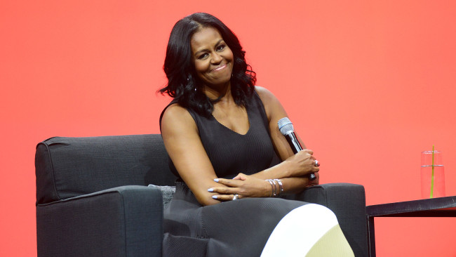 Michelle Obama and those arms. Source: Gerardo Mora/Getty Images