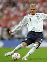 <p>2007: David Beckham in a friendly match against Brazil at Wembley stadium in London. David Beckham will join AC Milan on loan in January, the Italian club said on October 30, 2008.</p>