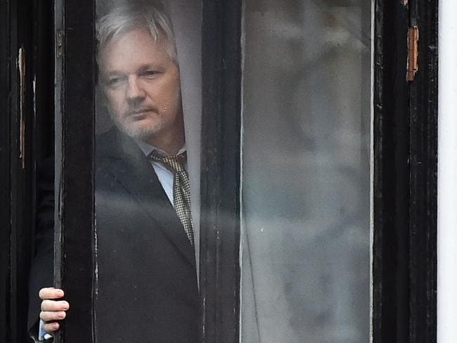 Julian Assange has been holed up in the Ecuador Embassy in London since 2012. Picture: AFP/Ben Stansall