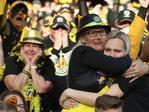 The 2017 AFL Grand Final between the Adelaide Crows and Richmond Tigers at the Melbourne Cricket Ground. Fans crying in the crowd after final siren. Picture: Alex Coppel.