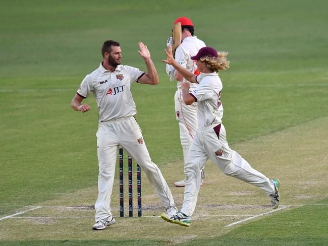 Mark Steketee has four wickets in the second innings.