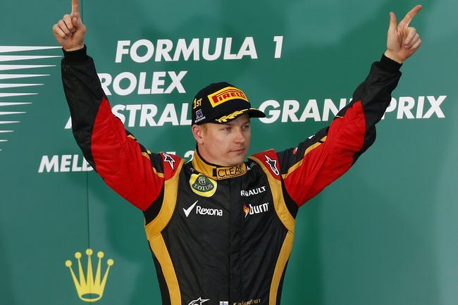 Raikkonen's last win for Lotus at the 2013 Australian GP.
