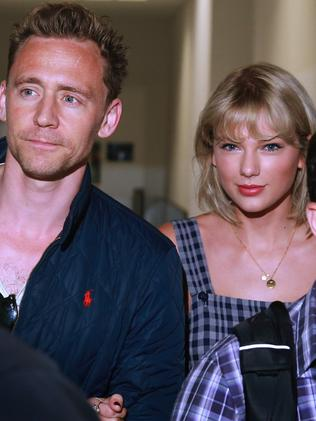 Taylor Swift and then-boyfriend Tom Hiddleston. Picture: Cameron Richardson.