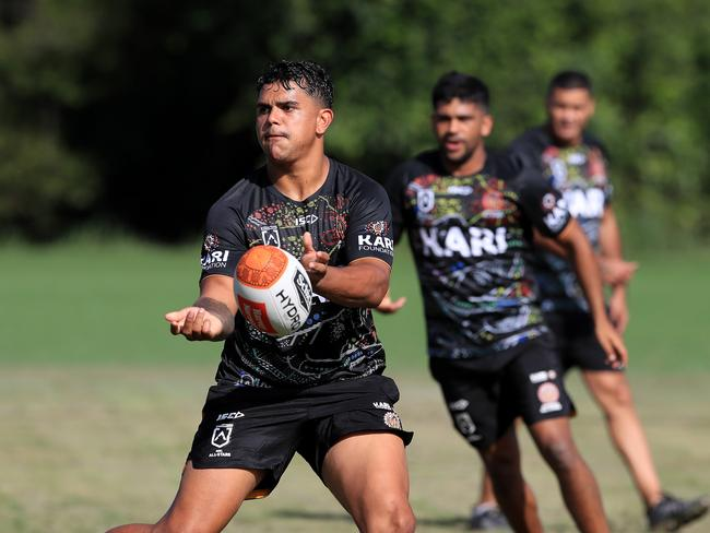 Latrell Mitchell and the indigenous All Stars are training at Somerset College ahead of their game on Saturday.