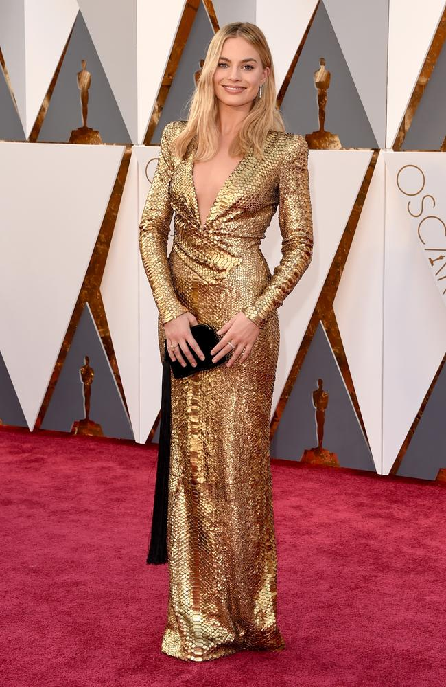 Our Margot gets another mention, because she dressed like an Oscar in 2016. Picture: Jason Merritt/Getty Images