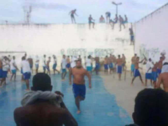 At least three inmates were beheaded during a fight that broke out between two criminal gangs. Picture: AFP